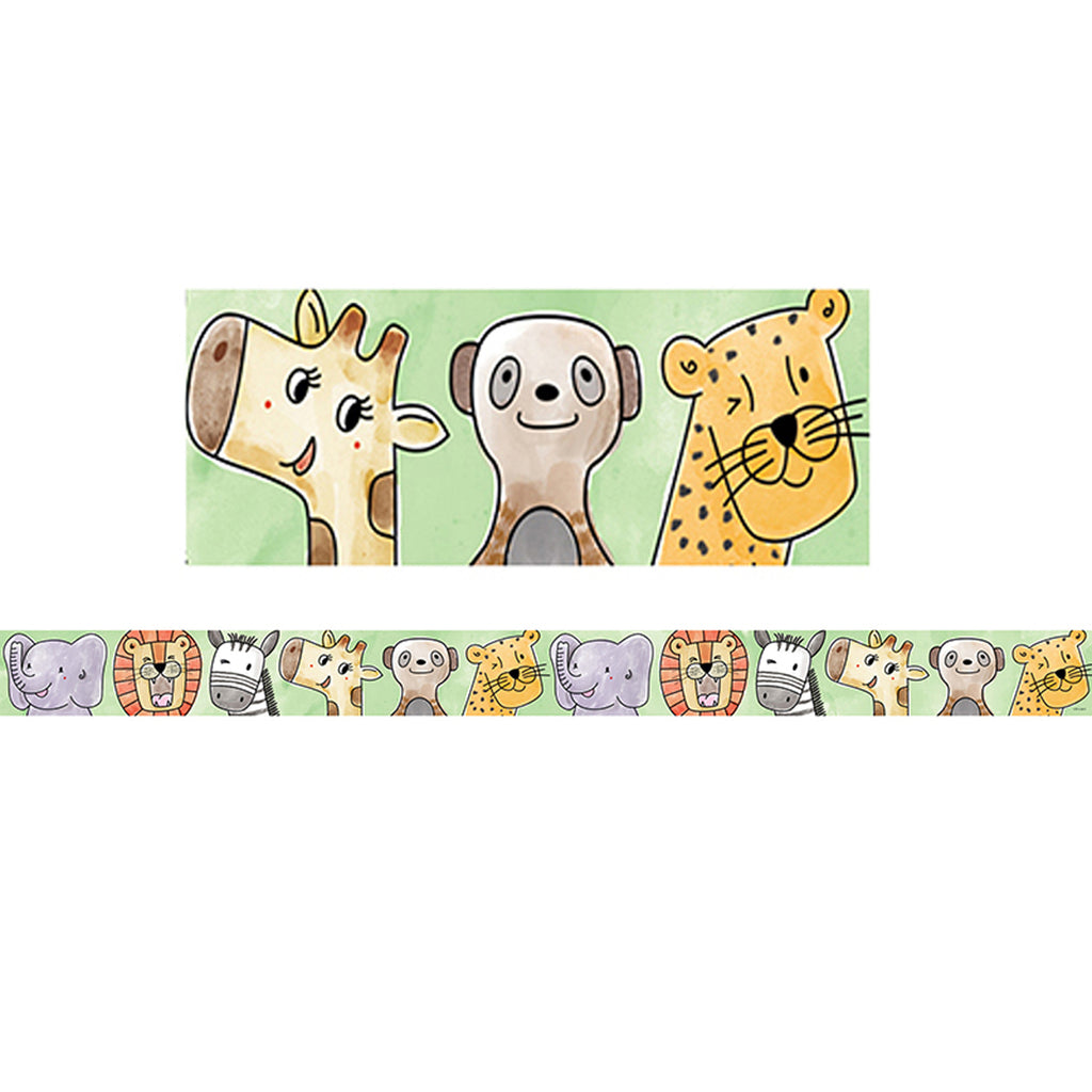 Creative Teaching Press Safari Friends Bulletin Board Border