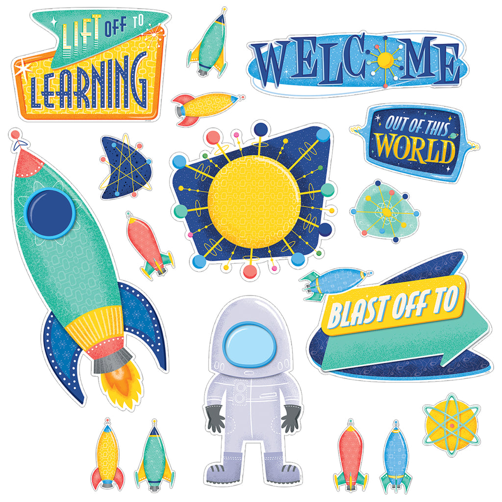 Creative Teaching Press Mid-Century Mod Lift Off to Learning Bulletin Board Set