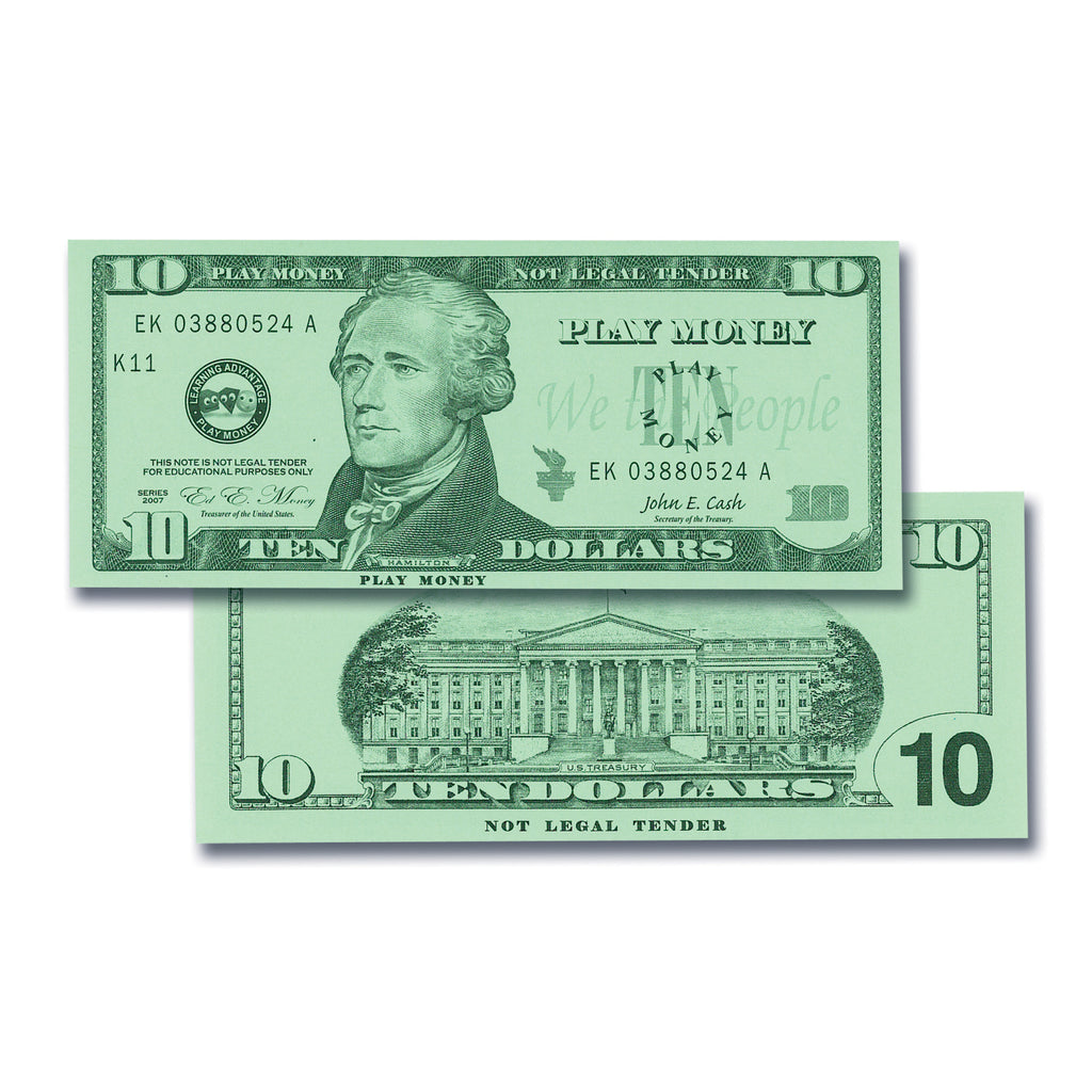 Learning Advantage $10 Bills Set (100)