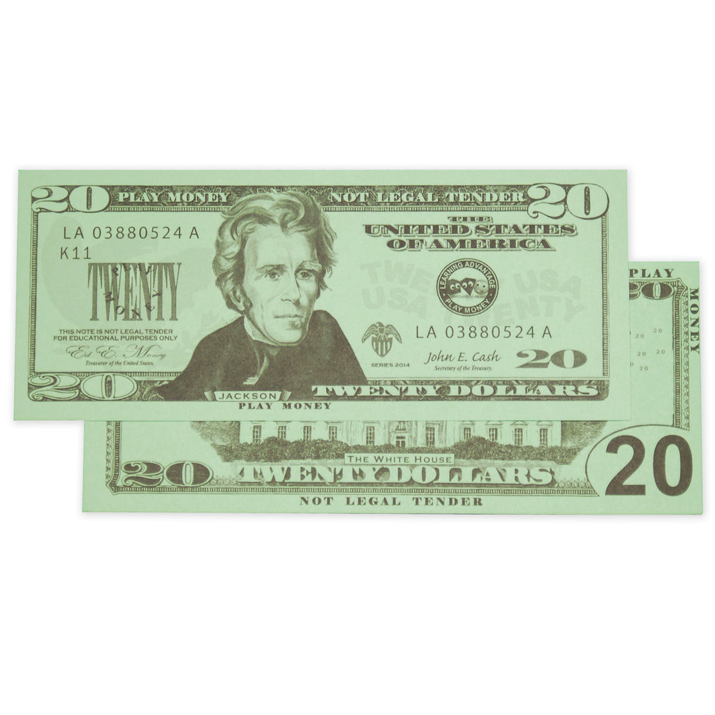 Learning Advantage $20 Bills Set (100)