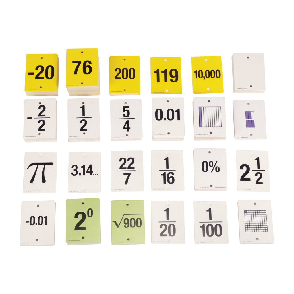 Learning Advantage F.U.N.™ Empty Number Line, Cards Only, Grades 6-8
