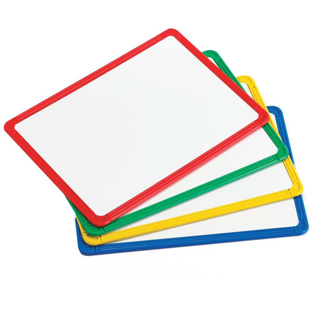 Learning Advantage Plastic Framed Metal Whiteboards, Set of 4