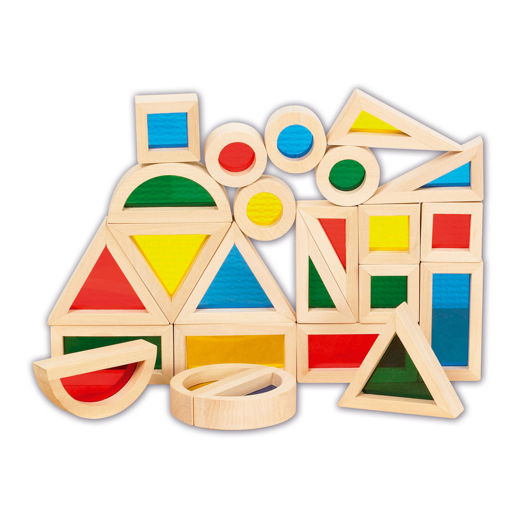 Learning Advantage Rainbow Blocks, Set of 24