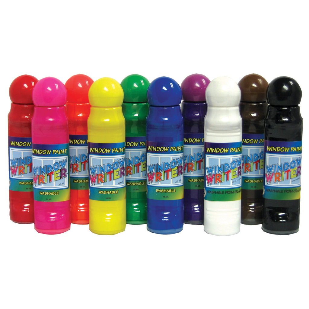 Crafty Dab Window Paint & Window Writers, 10 Pack