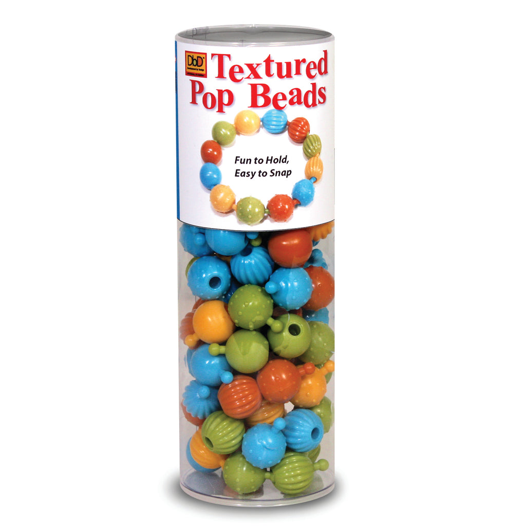 The Pencil Grip Textured Pop Beads, 100 Count Tube