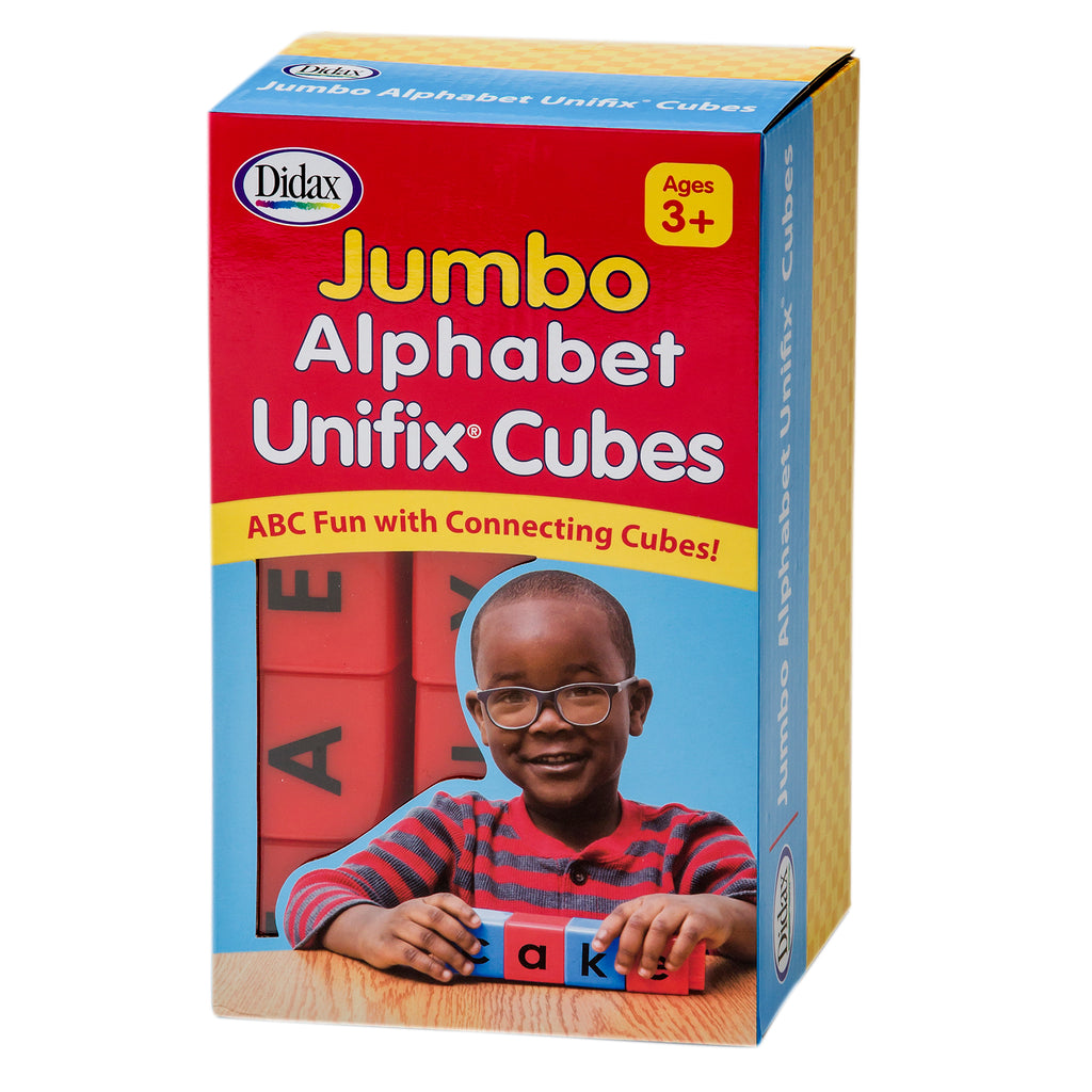 Didax Jumbo Alphabet Unifix® Cubes, Set of 30