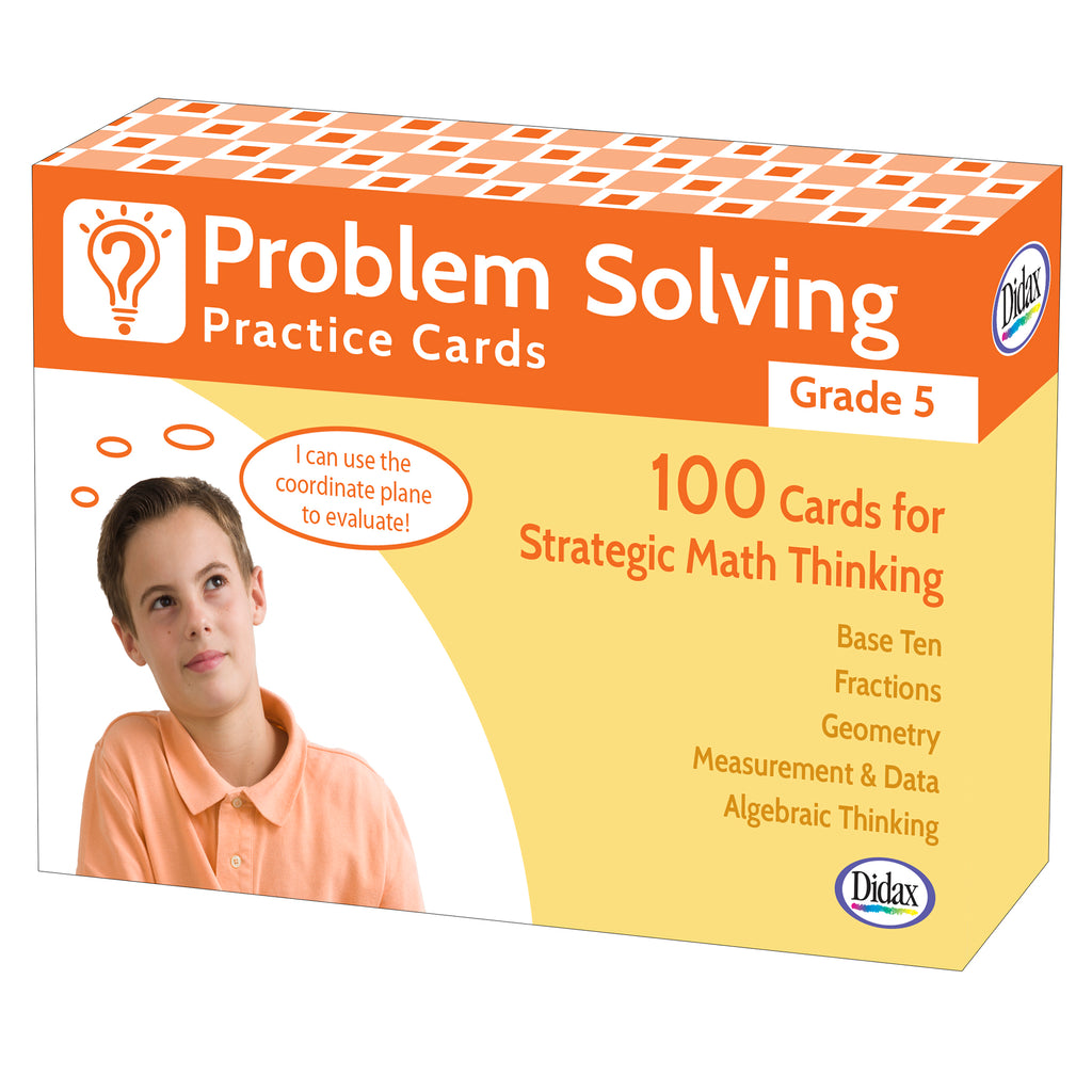 Didax Problem Solving Practice Cards, Grade 5