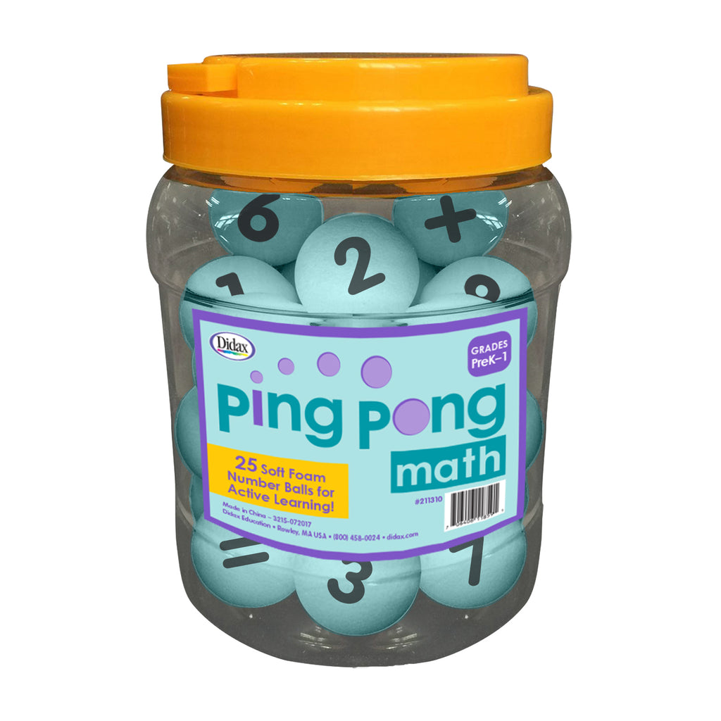 Didax Ping Pong Math, Set of 25