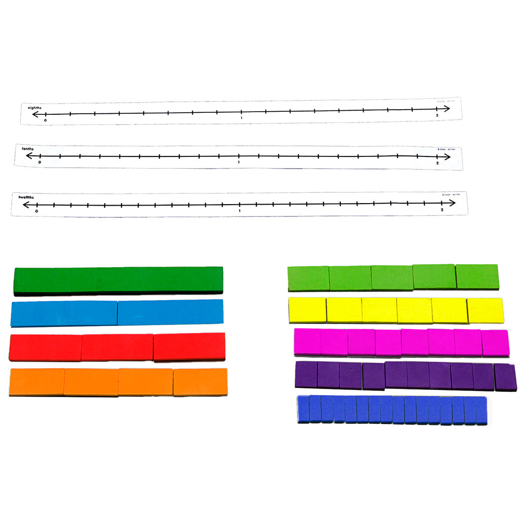 Didax Fraction Tile Number Line Set