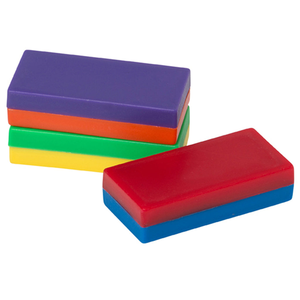 Dowling Magnets Plastic-Encased Block Magnets, 12 Bagged