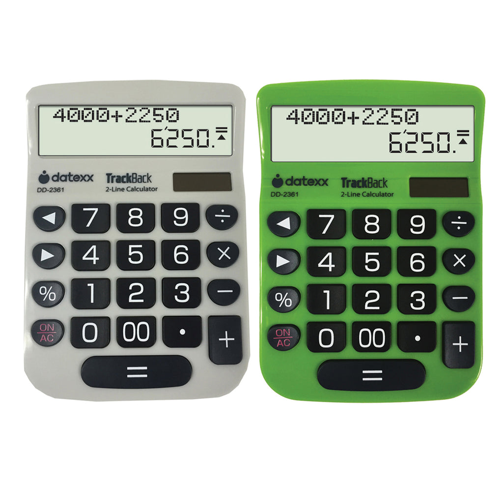 Teledex TrackBack 2-Line Desktop Calculator