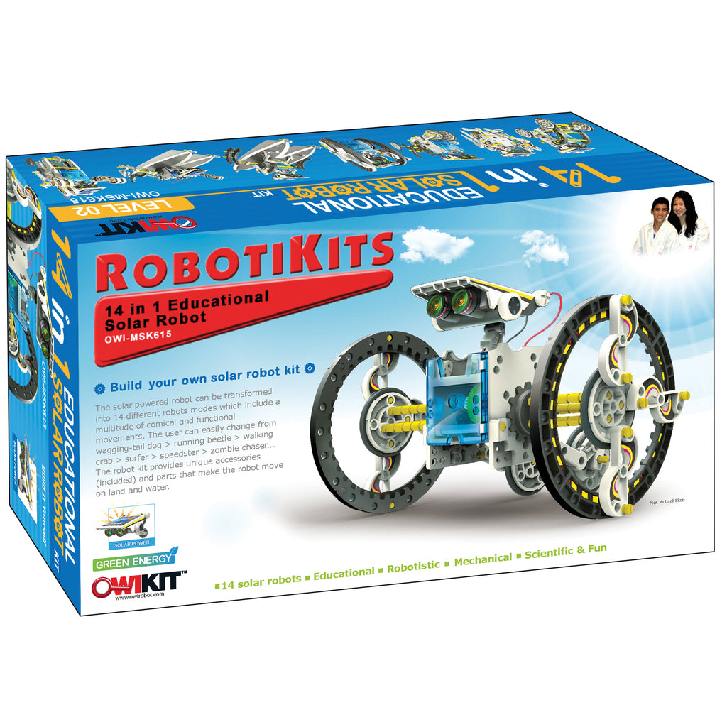 Elenco Electronics 14-in-1 Solar Robot Kit