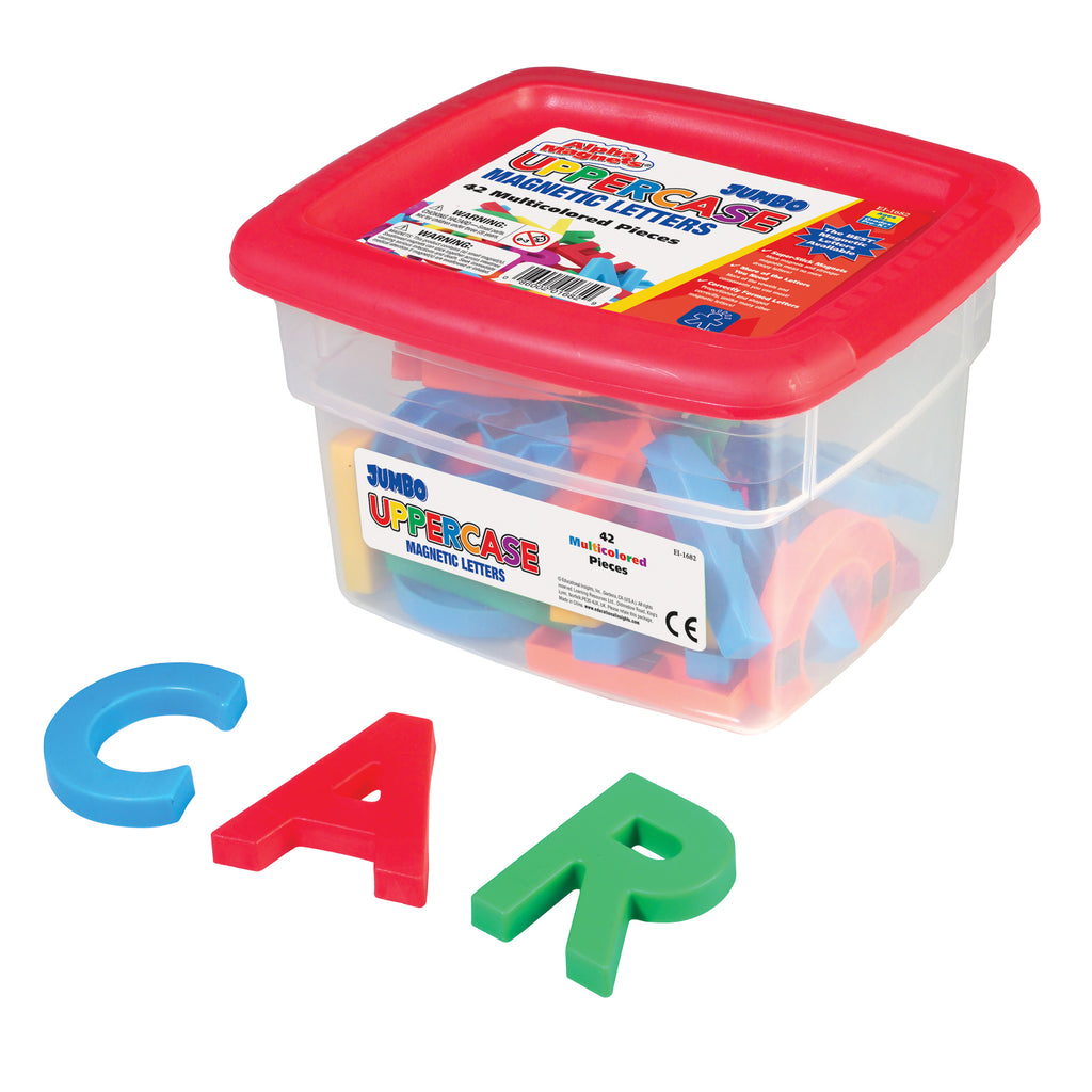Educational Insights AlphaMagnets® Jumbo Uppercase 42 Pieces Multicolored