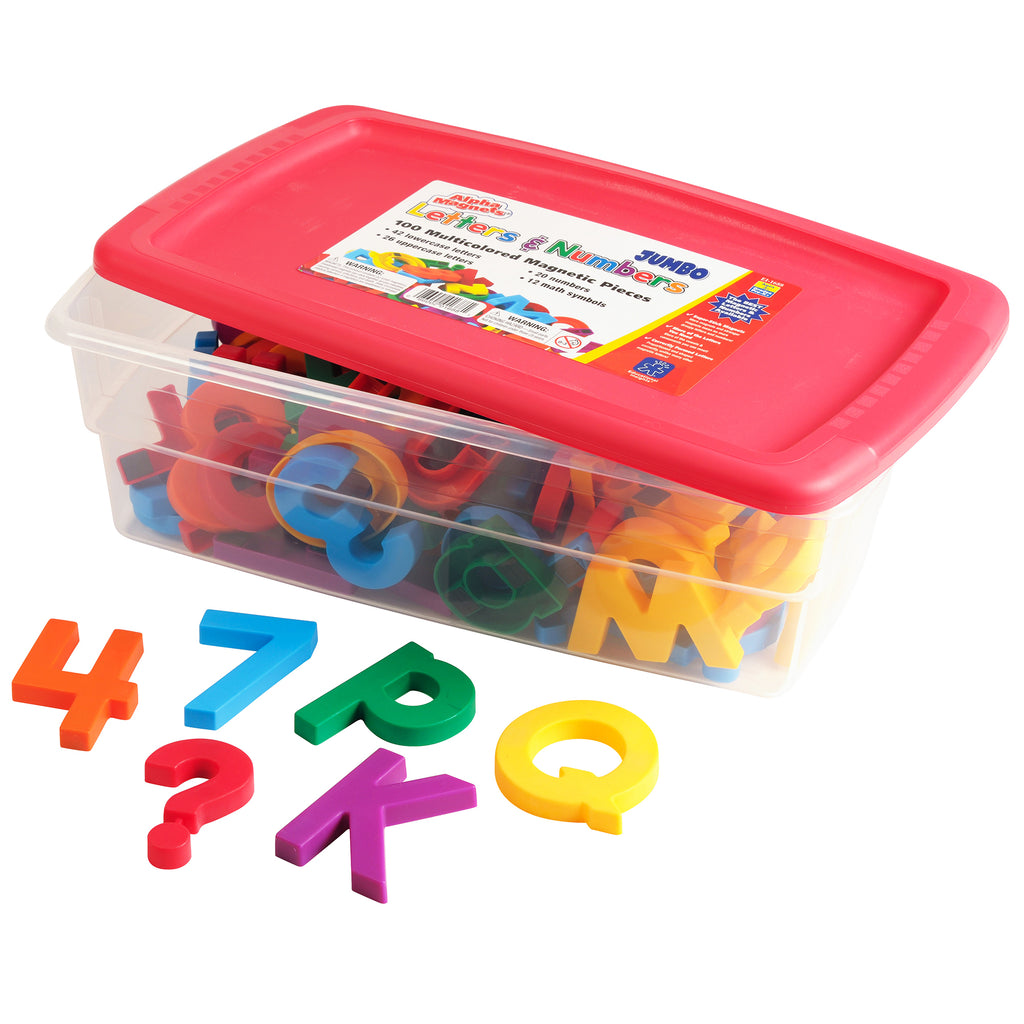 Educational Insights Jumbo Alpha & Mathmagnets 100 Pieces Multicolored