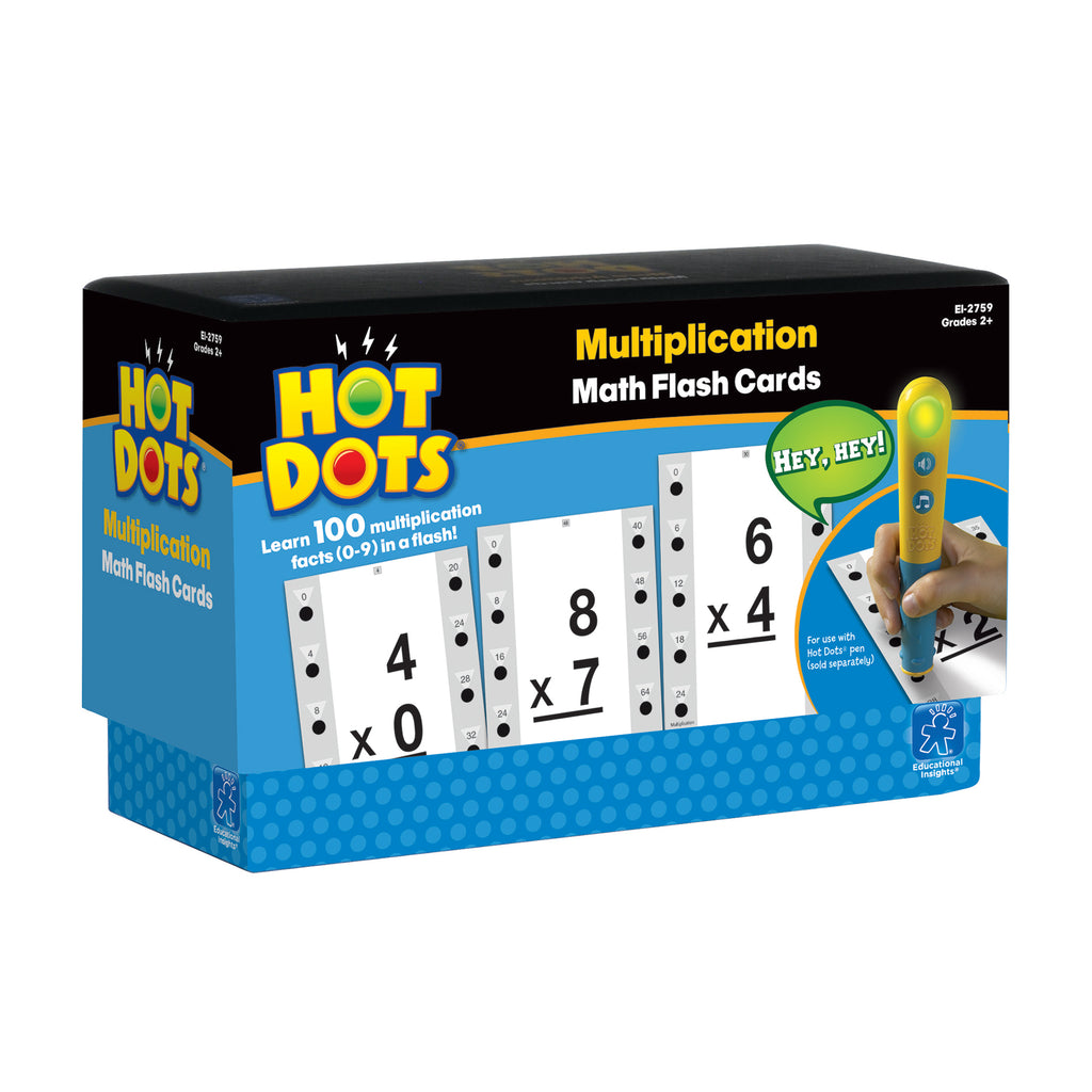Educational Insights Hot Dots®: Multiplication, Math Flash Cards