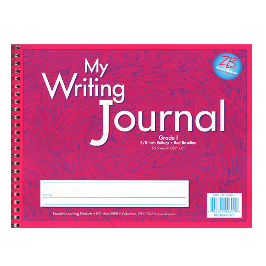 "Essential Learning Products Pink Writing Journal, 5/8"" Ruling, Grade 1"