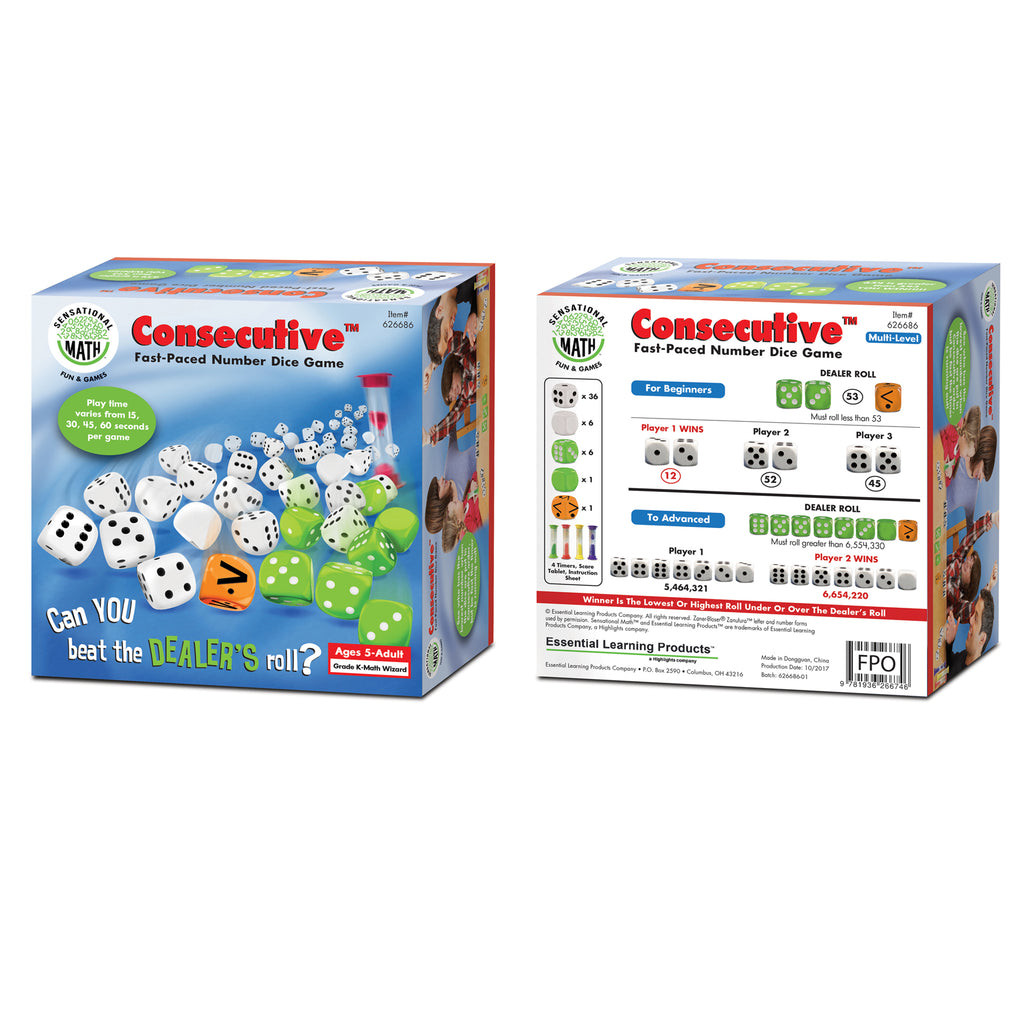 Essential Learning Products Fast-Paced Number Dice Game