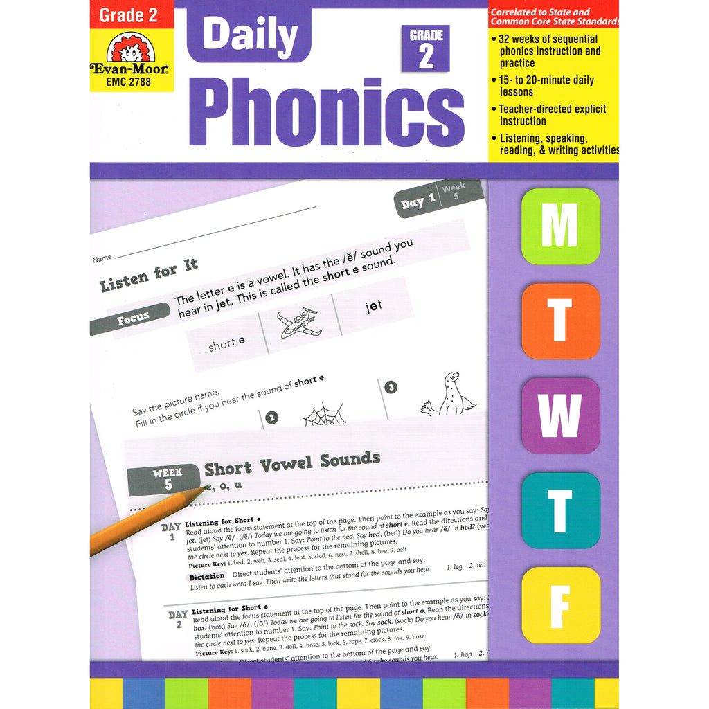 Evan-Moor Daily Phonics, Grade 2