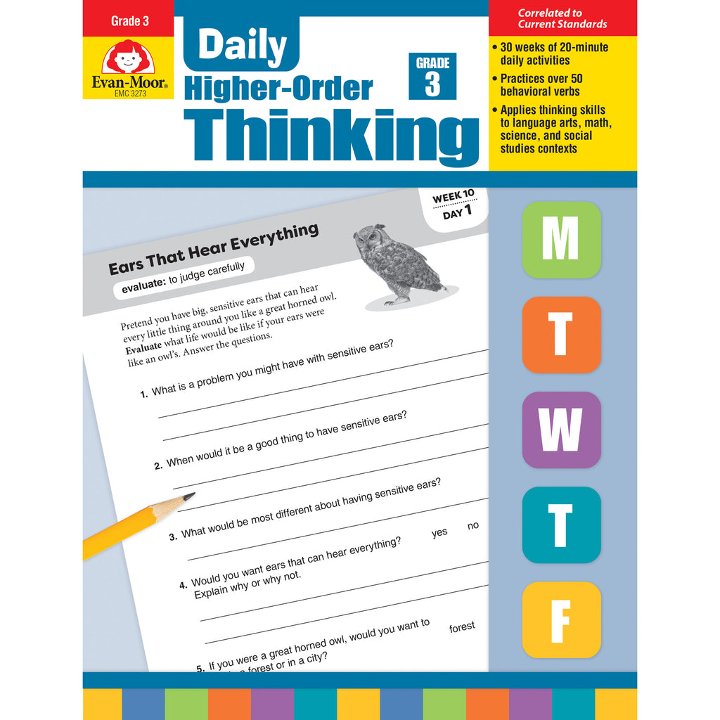 Evan-Moor Daily Higher-Order Thinking, Grade 3