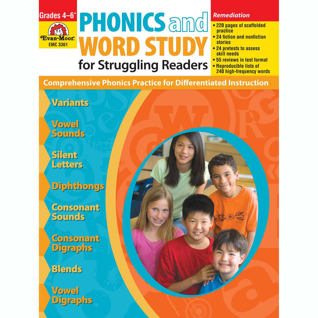 Evan-Moor Phonics and Word Study for Struggling Readers