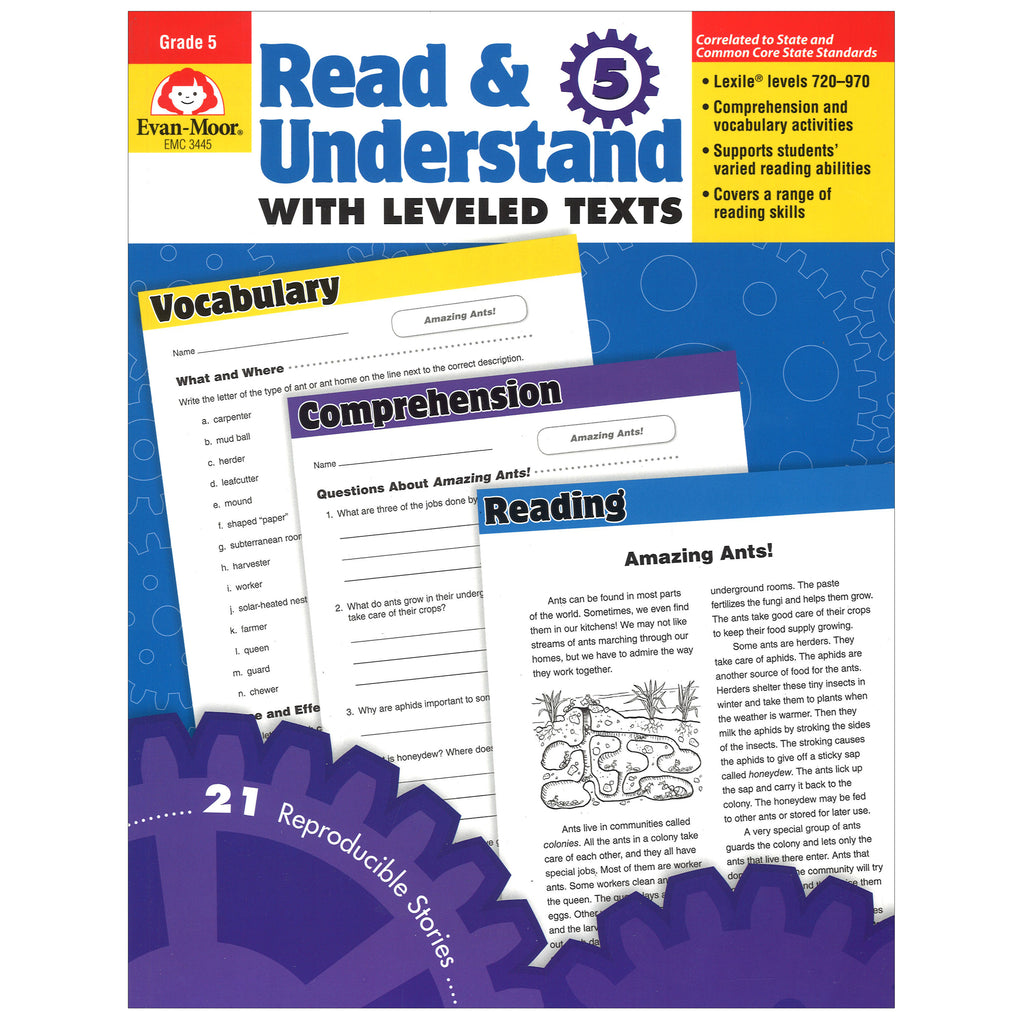 Evan-Moor Read & Understand with Leveled Texts, Grade 5