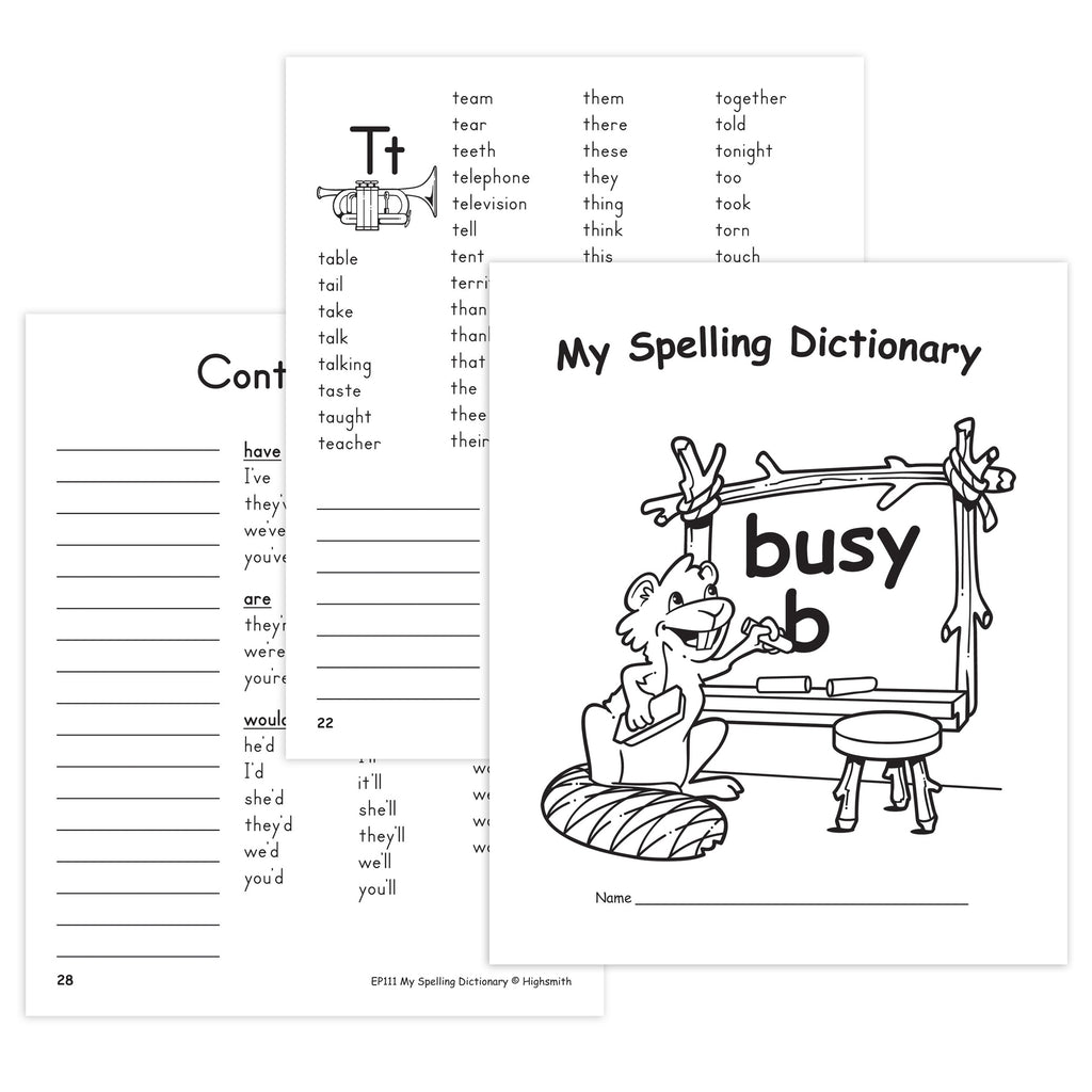 Teacher Created Resources My Spelling Dictionary