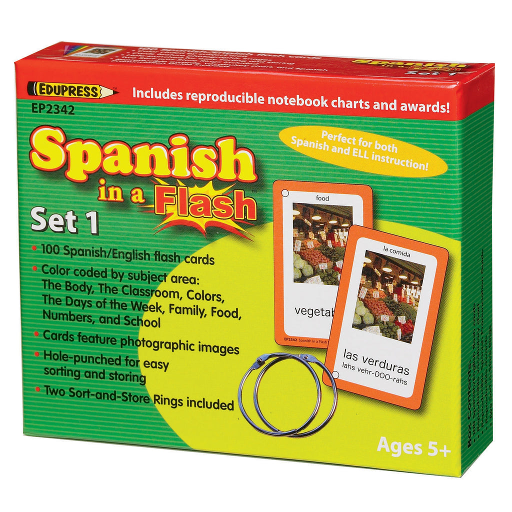 Teacher Created Resources Spanish in a Flash Cards, Set 1