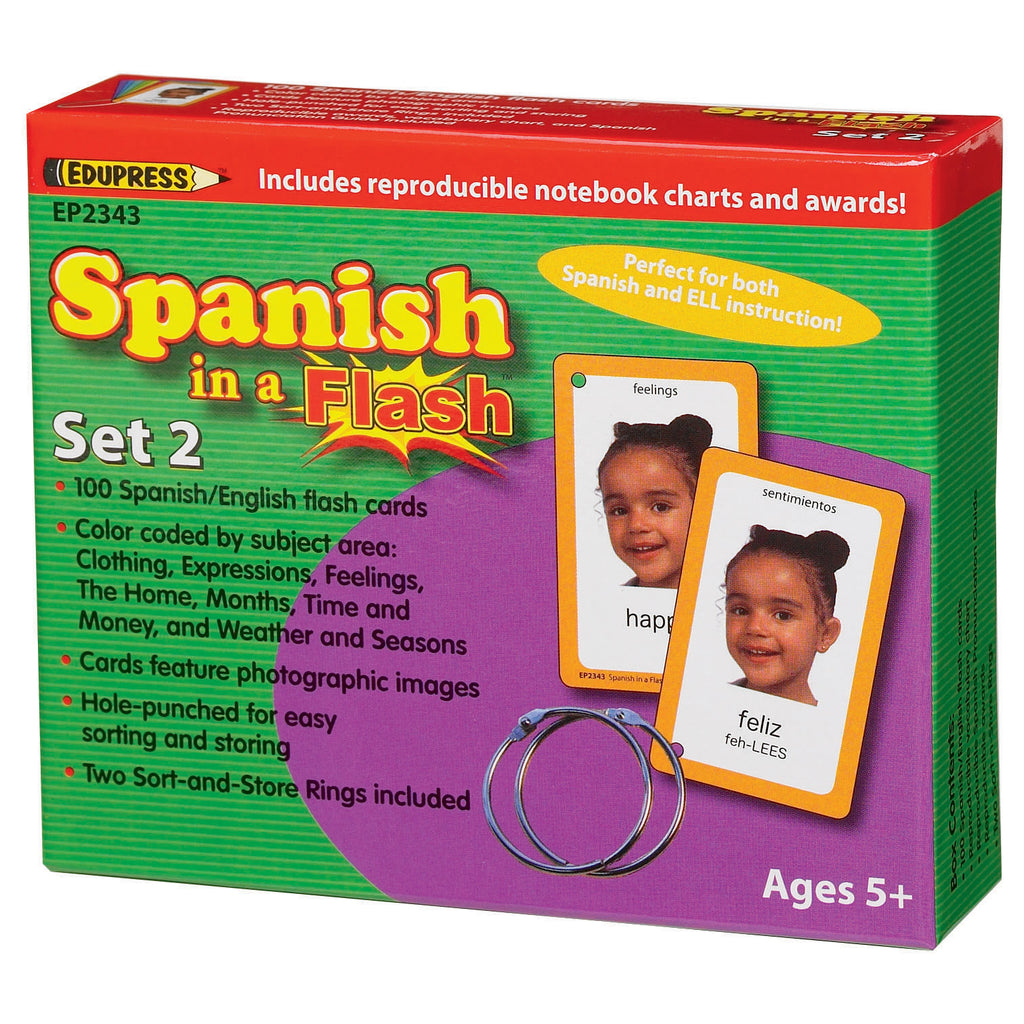 Teacher Created Resources Spanish in a Flash Cards, Set 2