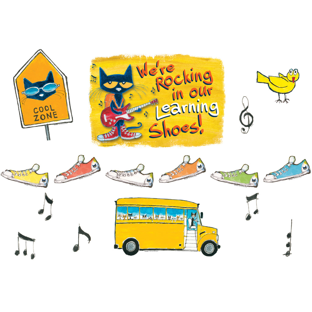 Teacher Created Resources We're Rocking In Our Learning Shoes Bulletin Board Set Featuring Pete the Cat®