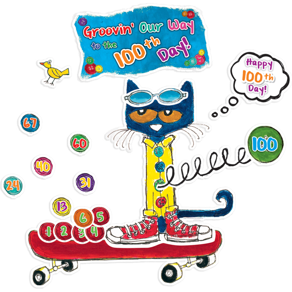 Teacher Created Resources 100 Groovy Days of School Bulletin Board Set Featuring Pete the Cat®