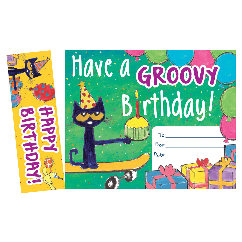 Teacher Created Resources Pete the Cat® Groovy Birthday Bookmark Award
