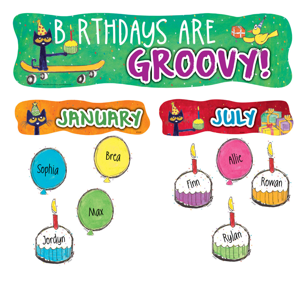 Teacher Created Resources Pete the Cat® Happy Birthday Mini Bulletin Board Set