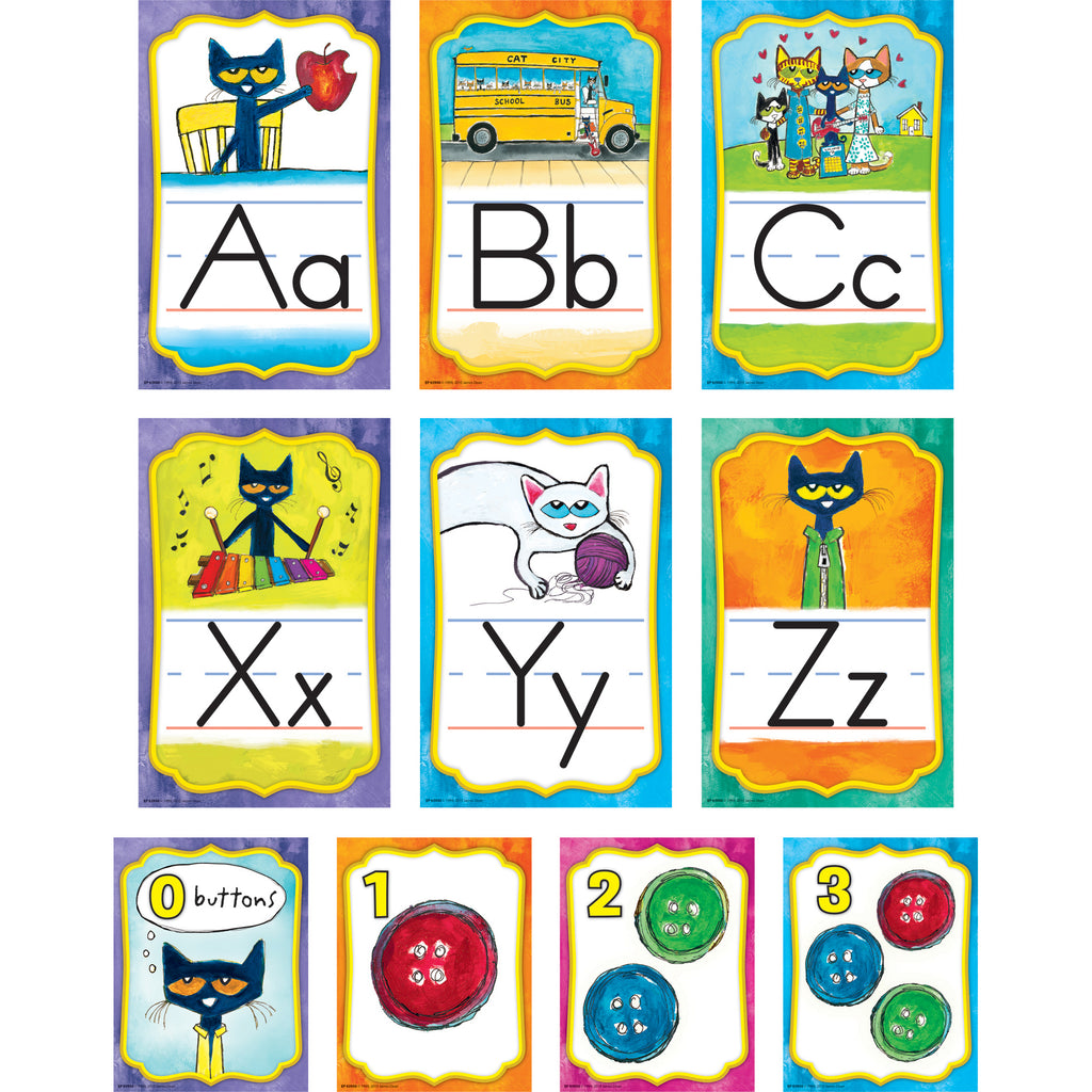 Teacher Created Resources Pete the Cat® Alphabet Bulletin Board Set