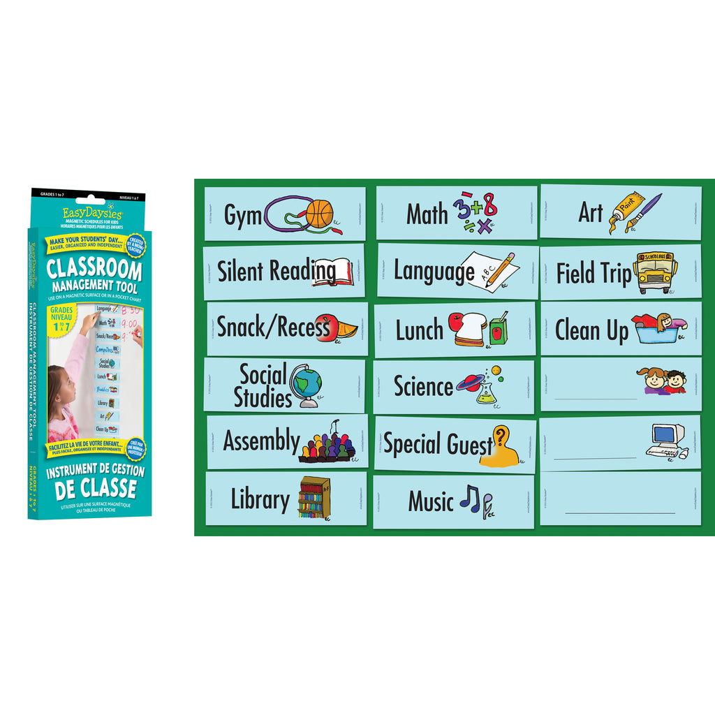 Easy Daysies Visual Daily Classroom Schedule, Grades 1-7