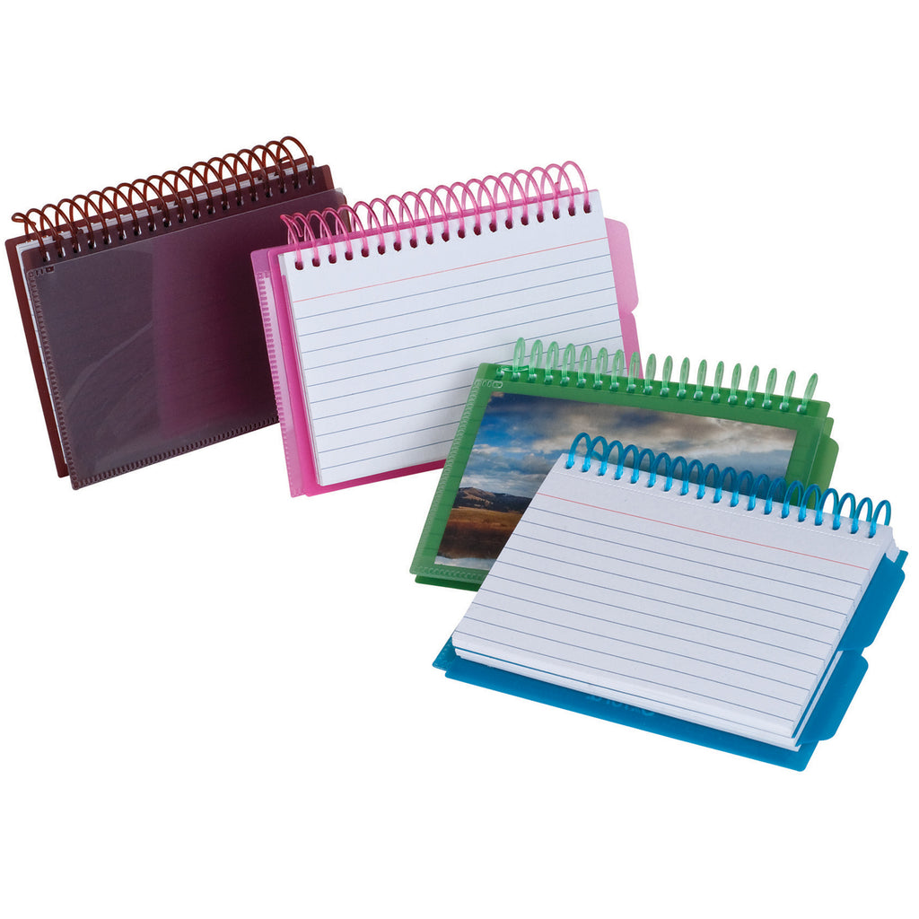 Esselte Corporation View Front Spiral Index Cards 3 x 5 Poly Cover