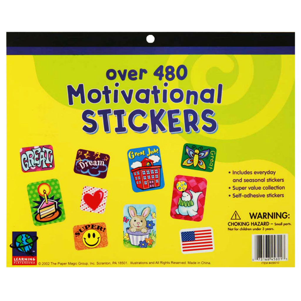 Eureka Jumbo Sticker Books 480 Count Motivational