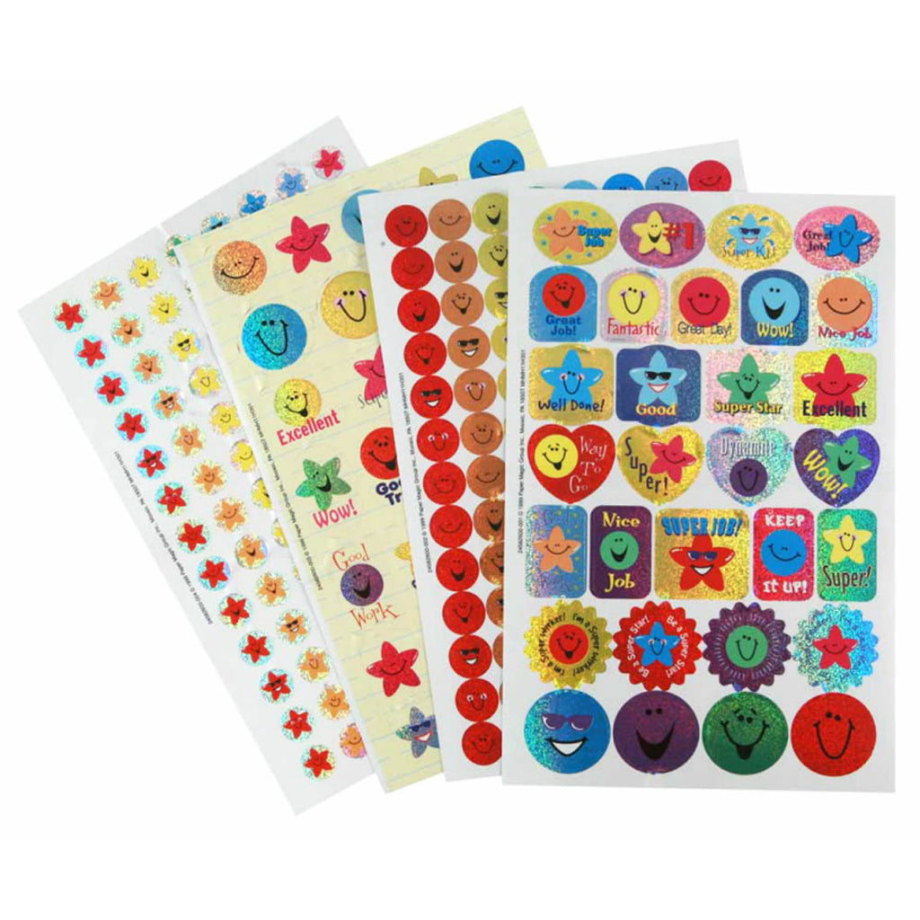 Eureka Sticker Book Stars & Smiles 268/Pk Sparkle