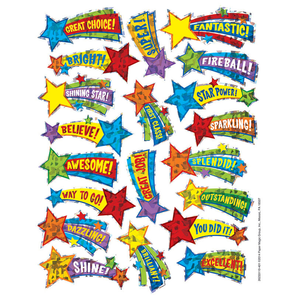 Eureka Shooting Stars Sparkle Stickers
