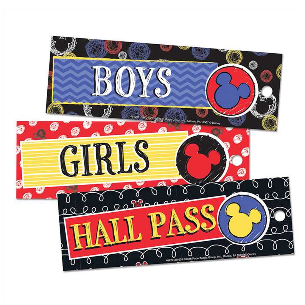 Eureka Mickey® Color Pop! Hall Passes