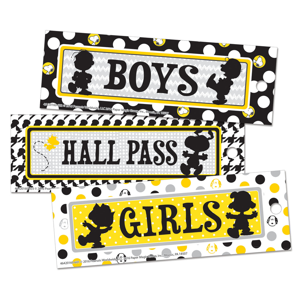 Eureka Peanuts® Touch of Class Hall Passes