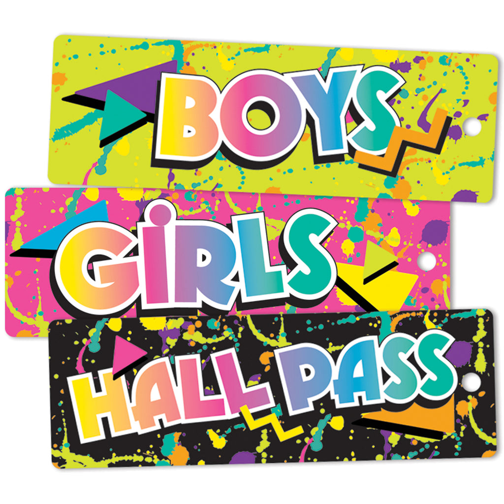 Eureka Rock the Classroom Hall Passes