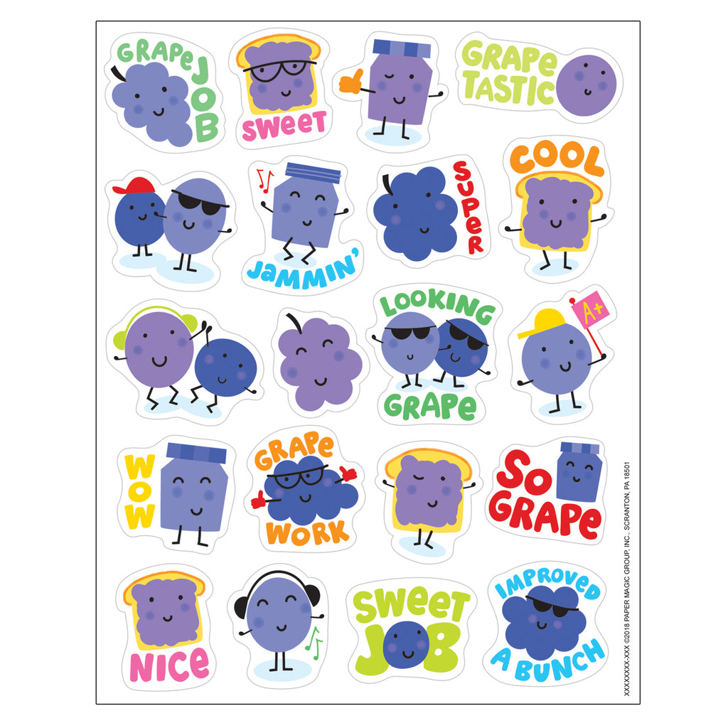 Eureka Grape Stickers - Scented