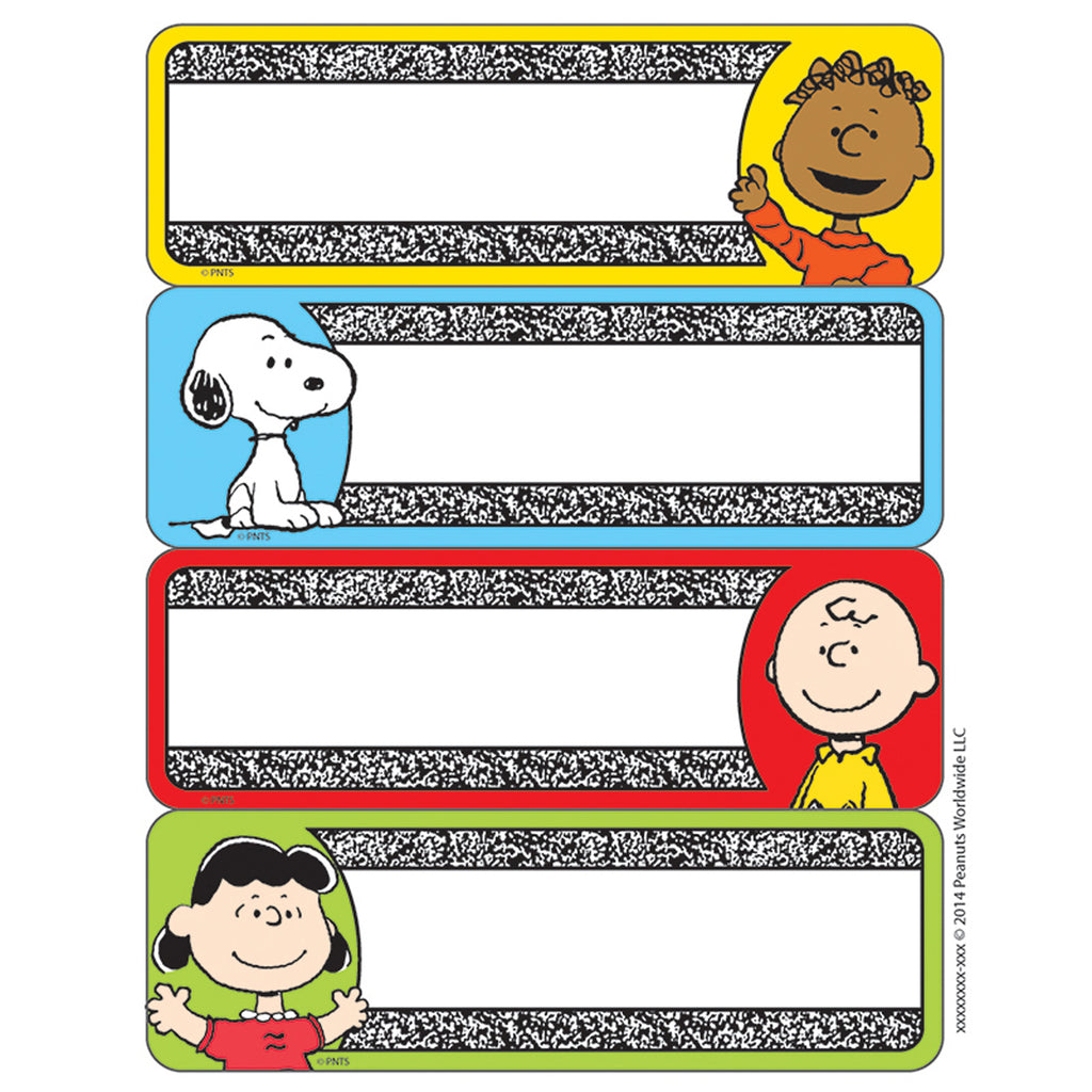 Eureka Peanuts® Composition Label Stickers