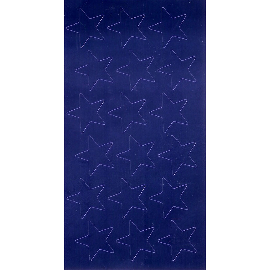 Eureka Stickers Foil Stars 1/2 In 250/Pk Blue