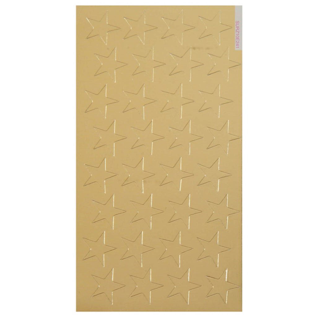 Eureka Stickers Foil Stars 1/2 In 250/Pk Gold