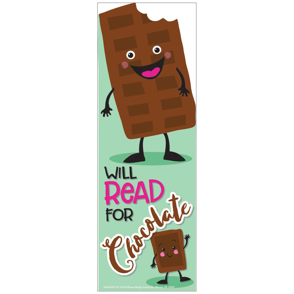 Eureka Chocolate Scented Bookmarks