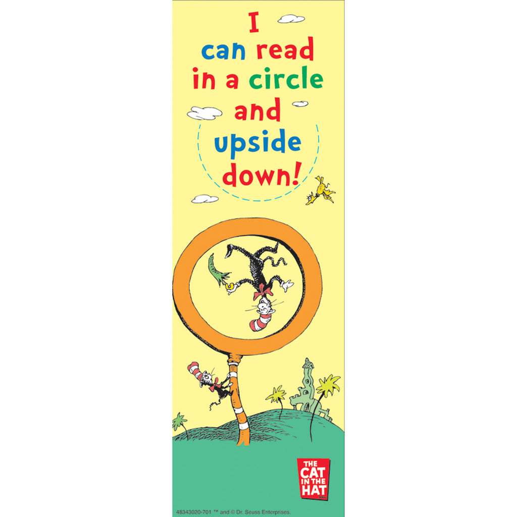 Eureka Dr. Seuss™ I Can Read In A Circle and Upside Down Bookmarks
