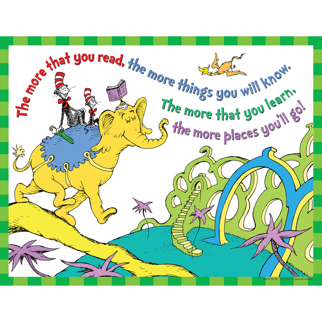 Eureka Dr. Seuss™ The More You Read 17 x 22 Posters