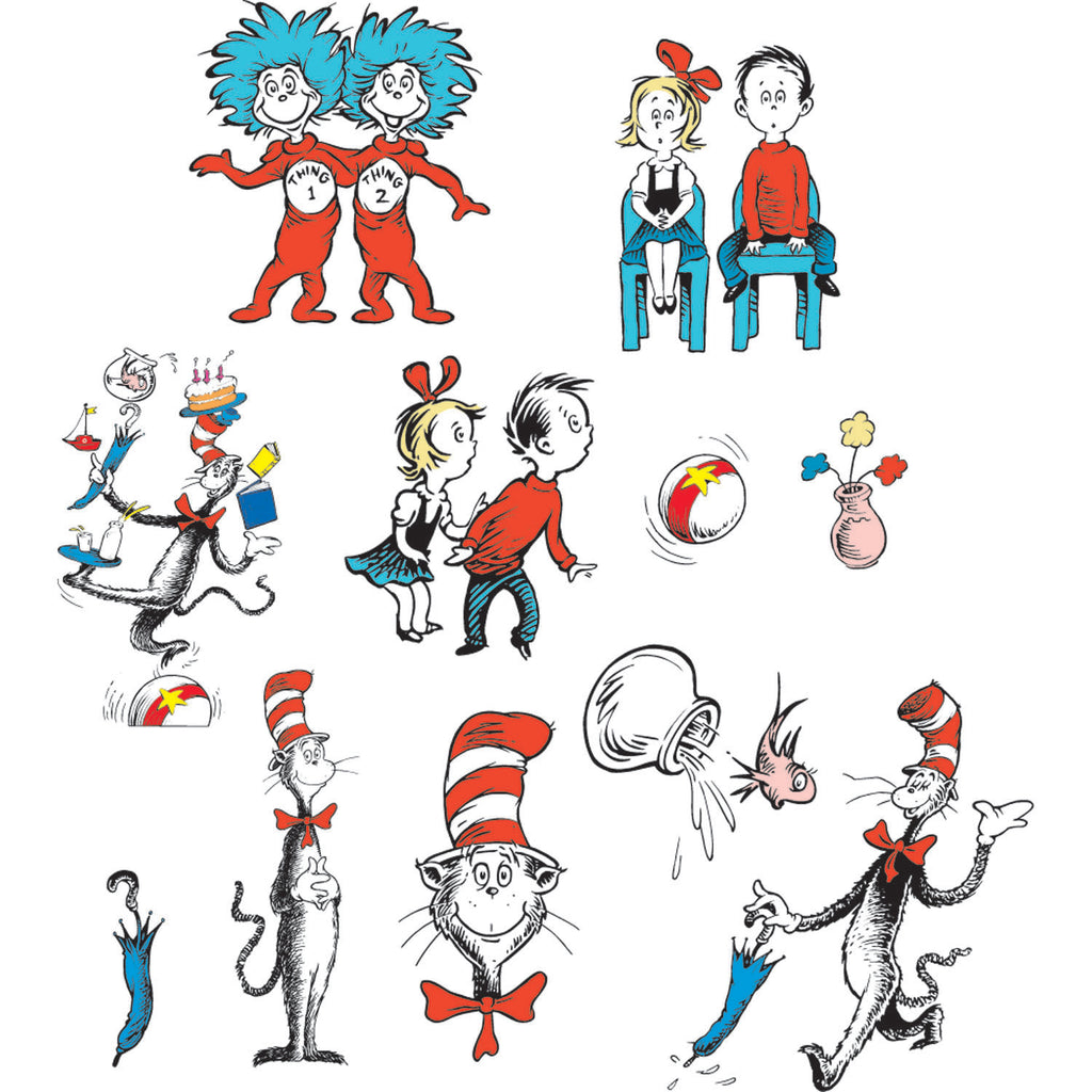 Eureka Cat in the Hat™ Characters 2-Sided Decorating Kit
