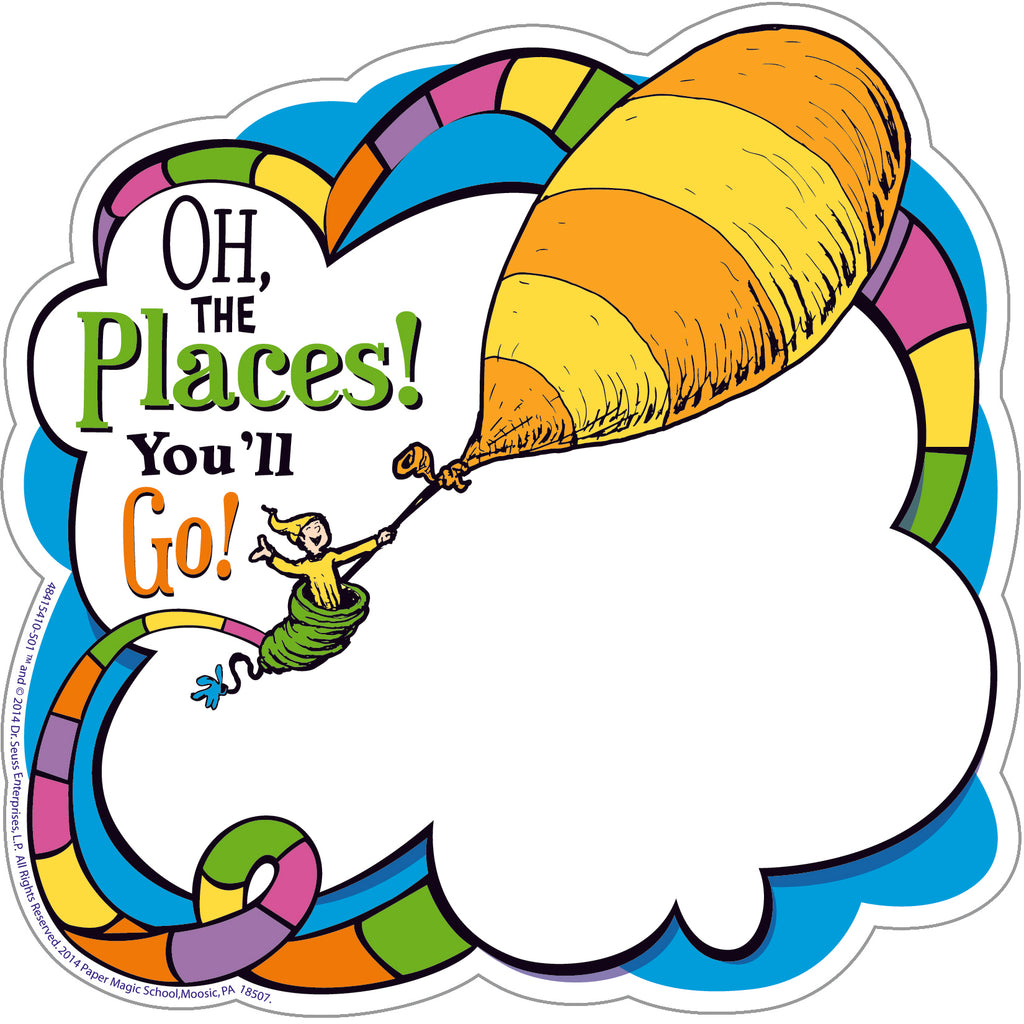 Eureka Dr. Seuss™ Oh The Places Paper Cut-Outs